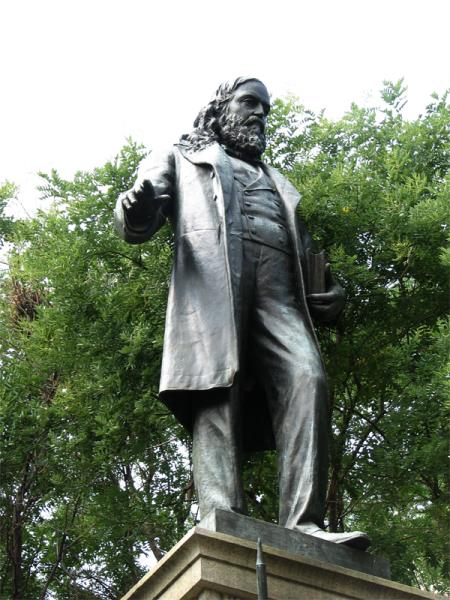 Statue of Illuminati / freemason extraordinaire Albert Pike